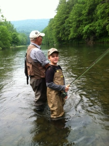 Grandpap (Ron Hill) and Grandson (Colby Hill) on Pine